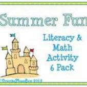 Summer Fun Literacy & Math Activity 6 Pack