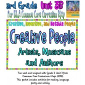 CC Curriculum Map Unit 3B, Third Grade, Creative People