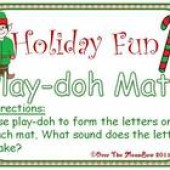 Holiday Fun Playdoh Mats