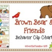 Brown Bear & Friends Behavior Clip Chart
