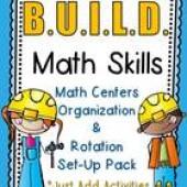 Construction Kids B.U.I.L.D. Math Centers Organization & Rotation Set-Up Pack