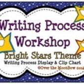 Bright Stars Writing Process Workshop Displays & Clip Chart