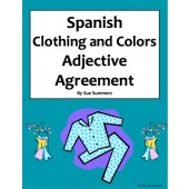 Spanish Clothing and Colors Worksheet - Noun and Adjective Agreement