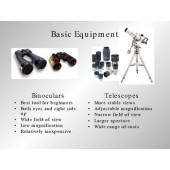 Basic Astronomy Equipment (telescopes, Observing sky) PPT