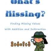 What's Missing- Finding Missing Values in Equations (+ -)