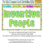 CC Curriculum Map Unit 3C, Third Grade, Inventive People