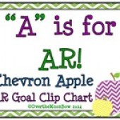 A is for AR ~ Chevron Apple AR Goal Clip Chart