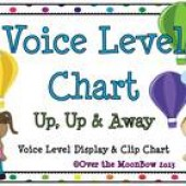 Up, Up & Away Classroom Voice Level Displays & Clip Chart