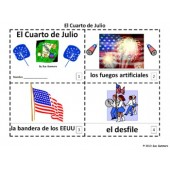 Spanish 4th of July El Cuarto de Julio 2 Booklets and Presentation