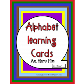 Alphabet Learning Cards Aa thru Mm