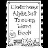 Christmas Alphabet Tracing Book