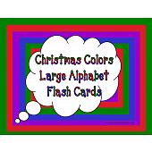 Christmas Colors Large Alphabet Flash Cards