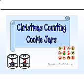 Christmas Counting Cookie Jars