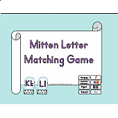 Mitten Letter Matching Game