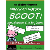 AMERICAN - Primary & Secondary Sources Scoot!
