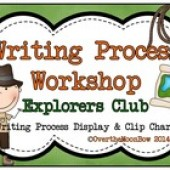 Explorers Club Theme - Writing Process Workshop Displays & Clip Chart