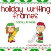 Holiday Writing Frames ~ Freebie