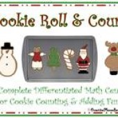 Cookie Roll & Count Complete Math Center