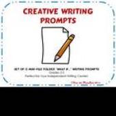What If...? Writing Prompts Mini-Folders