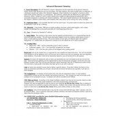 AP Chemistry Syllabus (High School)