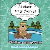 All About WATER SOURCES - Book, Game, Posters & Worksheets Rivers, Lakes, Oceans