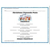 Winter Holiday Activity Pack - Christmas Diamante Poem Activity