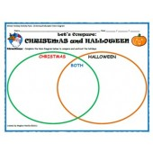 Winter Holiday Activity Pack - Christmas vs. Halloween Venn Diagram Activity