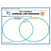 Winter Holiday Activity Pack - Winter vs. Summer Venn Diagram Activity