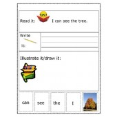 Sight Word Sentence Building Activity - Tree