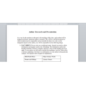 Author Research and Presentation - Handout - Literature