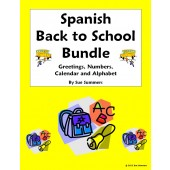 Spanish Back to School $ Saving Bundle - Greetings, Numbers, Calendar, Alphabet