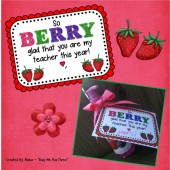 SO BERRY GLAD You are in my Class and SO BERRY GLAD You are my teacher Gift Tag
