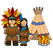 Clip Art Thanksgiving, Native Americans, Indians