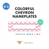 Colorful Chevron Nameplate Set
