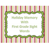 Christmas First Grade Sight Word Memory