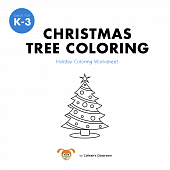 Christmas Tree Coloring Worksheet