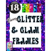 Clip Art~Fancy Glitter and Glam Frames