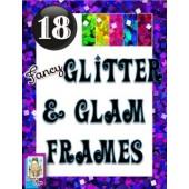 Clip Art~Fancy Glitter and Glam Frames