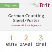German #1-12 Counting Sheet/Poster