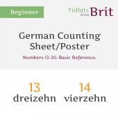 German #13-20 Counting Sheet/Poster