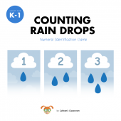 Counting Rain Drops: Numeral Identification Game