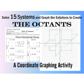 The Octants - 15 Systems of Linear Equations and Coordinate Graphing Activity