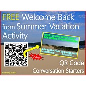 Welcome Back from Summer Vacation {QR Code Conversation Starters}