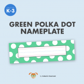 Green Polkadot Nameplate