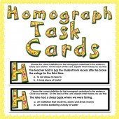 Homograph Task Cards : 27 cards with 24 homographs!