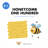Honeycomb Number Sequencing Worksheet