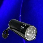 Ultra Violet (UV) LED  3 watt Blacklight Flashlight (palmsize)