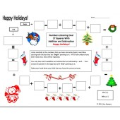Christmas Theme Numbers and Math Listening Activity