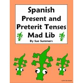 Spanish Verbs Mad Lib Present and Preterit Tenses Writing Activity