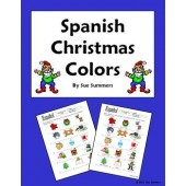 Spanish Christmas Colors IDs Worksheet - NAVIDAD